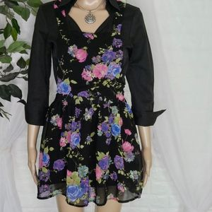 One Clothing Overall Style Floral Dress